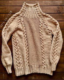 Вязаный женский свитер Карамельный Твид