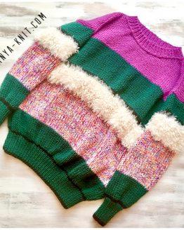 Вязаный женский свитер Фантазийная Геометрия - Таня Вяжет - Tanya Knit